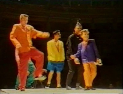Suggs Madness Fashion Aid Royal Albert Hall 1985 felix howard Bob Geldof live