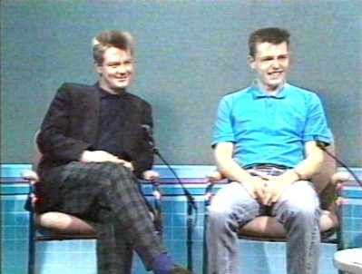 Madness Cathal Smyth Suggs Good Evening Ulster Interview UTV ITV 1985 Carl Chas Smash Eamonn Holmes