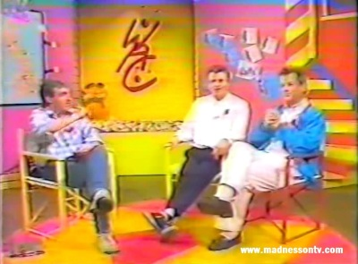 Suggs & Cathal Smyth from Madness on The Wide Awake Club 1985